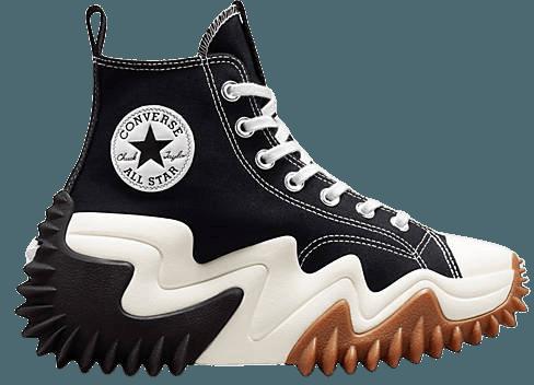 Converse Run Star Motion Hi canvas platform sneakers in black | ASOS