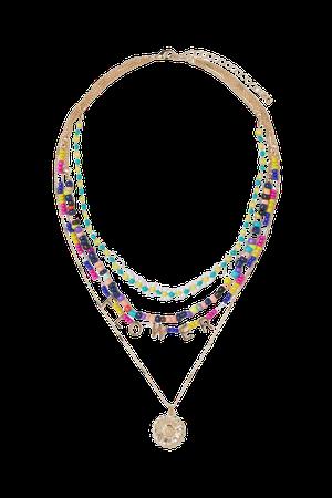 neckline bib chest Necklace - Gold flowers - Ladies | H&M US