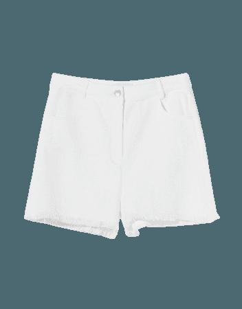 Shorts with frayed hems - Shorts and bermudas - Woman   Bershka