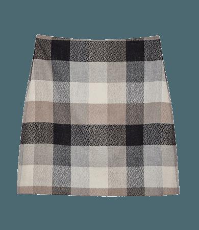 Checked Shift Skirt