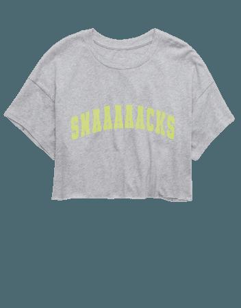OFFLINE Raw Cut Cropped T-Shirt