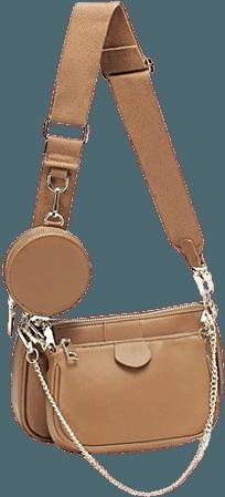 Small Crossbody Bag for Women Shape Golden Zippy Handbags with Coin Purse including 3 Size Bag (Khaki): Handbags: Amazon.com