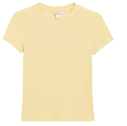 Ribbed tee - Pastel yellow - T-shirts - Monki WW