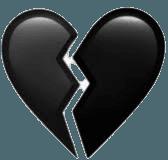 black broken heart emoji - Google Search