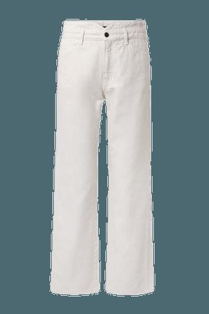 Blake High-rise Straight-leg Jeans - Off-white