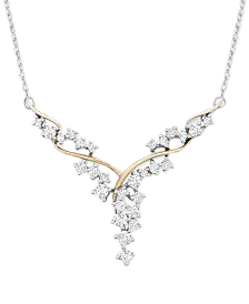 Wrapped in Love Diamond Link Statement Necklace (1 ct. t.w.) in Sterling Silver & 14k Gold-Plate, Created for Macy's & Reviews - Necklaces - Jewelry & Watches - Macy's