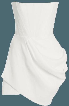 Exclusive Buckley Draped Stretch Crepe Strapless Mini Dress By Alex Perry | Moda Operandi