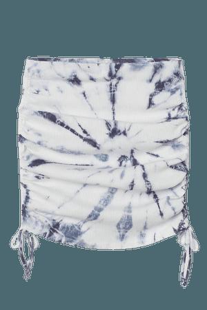 Drawstring-detail Skirt - White/tie-dye - Ladies | H&M US