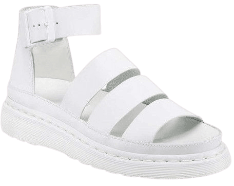 Dr. Martens Women's Clarissa Chunky Strap Sandal, White Softy T Leather