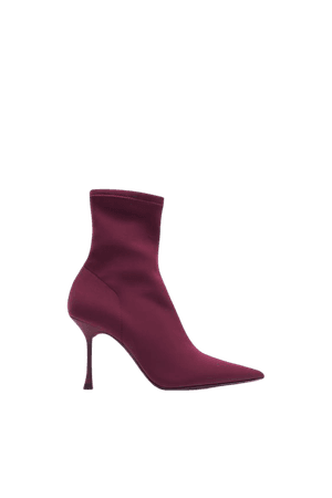 FABRIC SOCK STYLE ANKLE BOOTS | ZARA United States