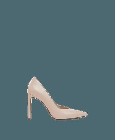 Bershka heeled pumps in beige | ASOS