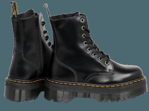 Black Platform Doc Martens
