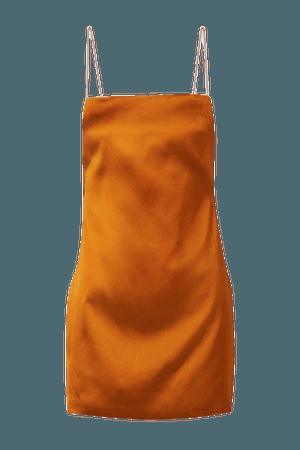 Bima Open-back Satin Mini Dress - Orange
