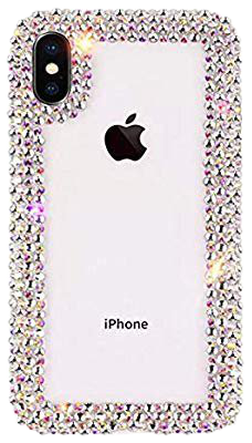 Amazon.com: Jesiya for iPhone XR Case 3D Glitter Sparkle Bling Case Luxury Shiny Crystal Rhinestone Diamond Bumper Clear Protective Case Cover for iPhone XR Clear: Cell Phones & Accessories