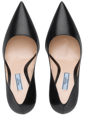 Shop Prada leather pumps with Express Delivery - FARFETCH