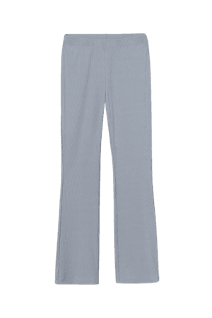 Ribbed Jazz Pants - Steel blue - Ladies   H&M US