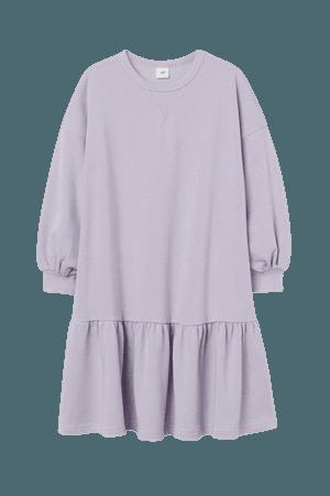 Sweatshirt Dress - Purple