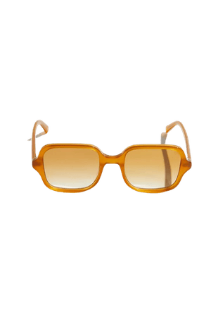 Chimi Voyage Honey Brown Square Sunglasses   Urban Outfitters