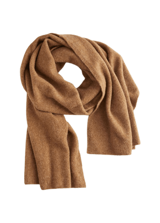 Fuzzy Wool Blend Scarf - Brown - Fall & Winterscarves - & Other Stories