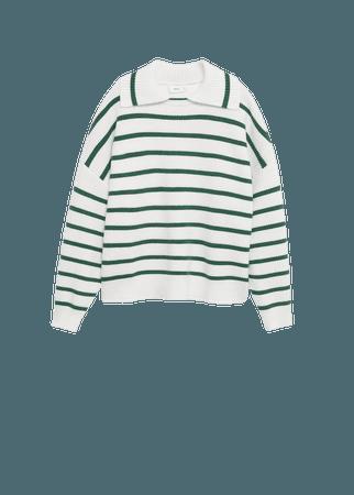 Collar knit sweater - Women | Mango USA