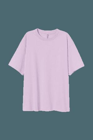Wide-cut Cotton T-shirt - Purple