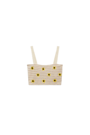 EMBROIDERED CROCHETED TOP | ZARA United States