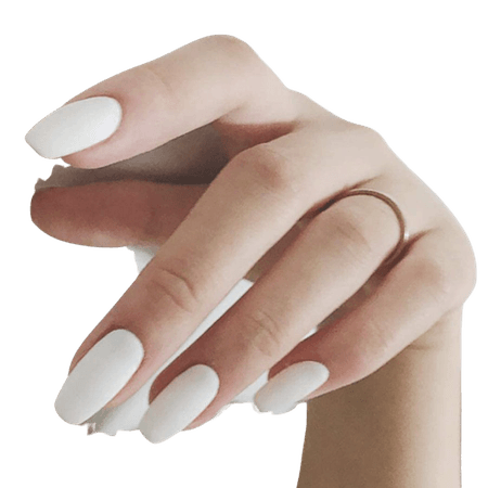 Amazon.com : Fstrend White Frosted 24Pcs False Nails Matte Full Cover Medium Ballerina Square Coffin Natural Fashion Acrylic Fake Nail for Women and Girls : Beauty