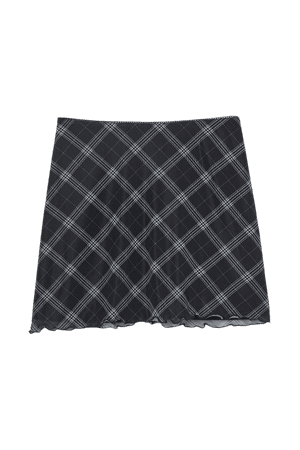 Short Skirt - Black/plaid - Ladies | H&M US