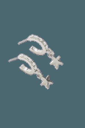Pearl Huggie Hoop Earring   Urban Outfitters