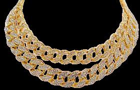 cuban link diamond choker