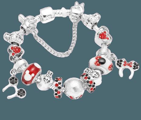 Pulseira Life Completa Berloques Disney Mickey Minnie Mod 57 - R$ 60,00 em Mercado Livre