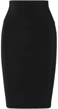 Stretch-jersey Skirt - Black