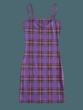 Tartan Bodycon Dress | SHEIN USA