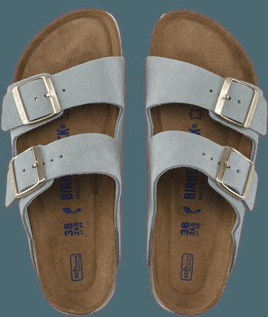 Arizona Suede Leather Light Blue   shop online at BIRKENSTOCK