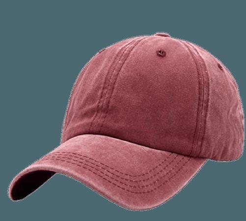 Unisex Vintage Washed Distressed Baseball Cap Twill Adjustable Dad Hat, C-burgundy, One Size at Amazon Women's Clothing store