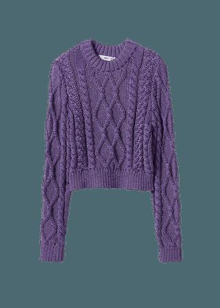 Metallic-knit sweater - Women | Mango USA