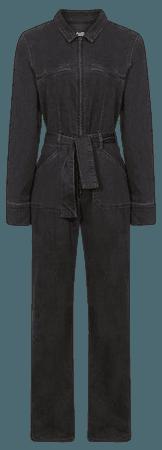 Jett Black Paige Utility Jumpsuit – REISS