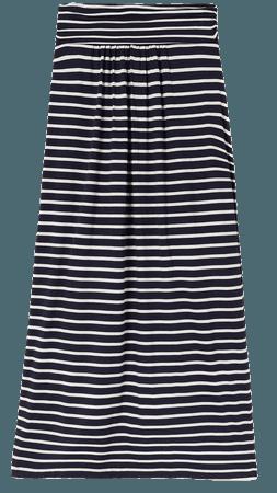 Boden Gathered Waist Stripe Midi Skirt   Nordstrom