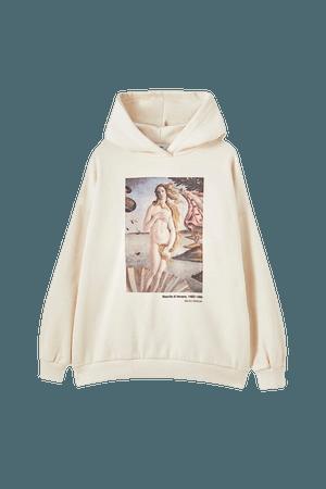 Botticelli plaid hoodie - pull&bear