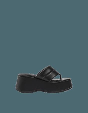 Padded platform sandals. - Shoes - Woman   Bershka