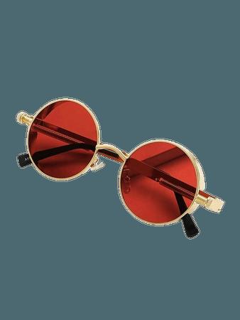 Metal Frame Round Lens Sunglasses | ROMWE USA