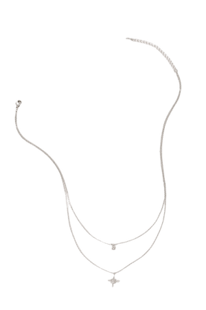 Cute Silver Necklace - Star Necklace - Layered Necklace - Lulus