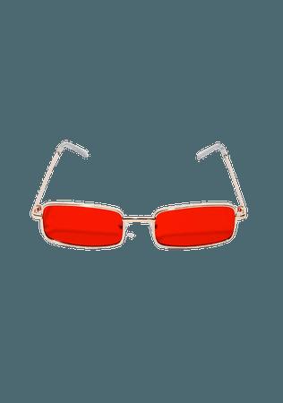 Red Rectangle Sunglasses | Dolls Kill
