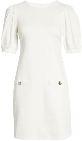 Eliza J Puff Sleeve A-Line Dress | Nordstrom
