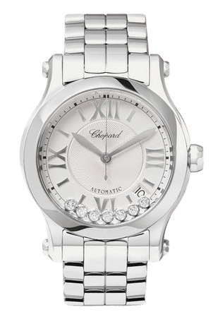 Chopard   Happy Sport Automatic 36mm stainless steel and diamond watch   NET-A-PORTER.COM
