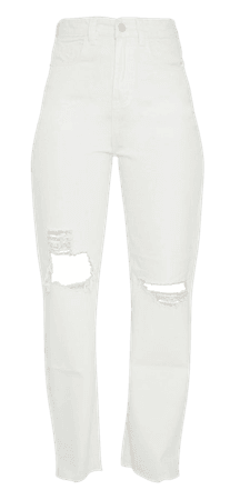 White Ripped Baggy Jeans