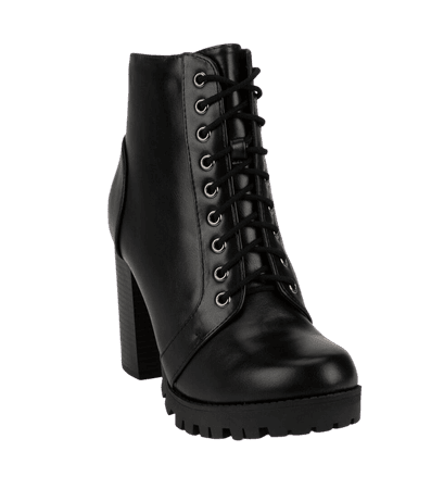 SODA Lace Up Womens Heeled Combat Boots - BLACK - 377907100 | Tillys