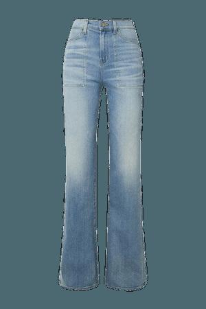 Crosbie High-rise Flared Jeans - Mid denim