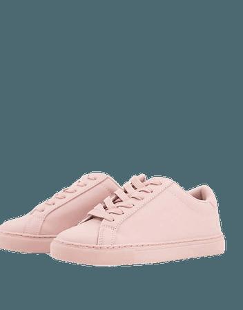 ASOS DESIGN Wide Fit Drama sneakers in beige drench | ASOS