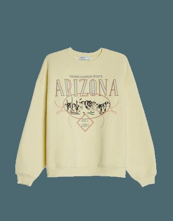 Embroidered sweatshirt - Sweatshirts and Hoodies - Woman | Bershka